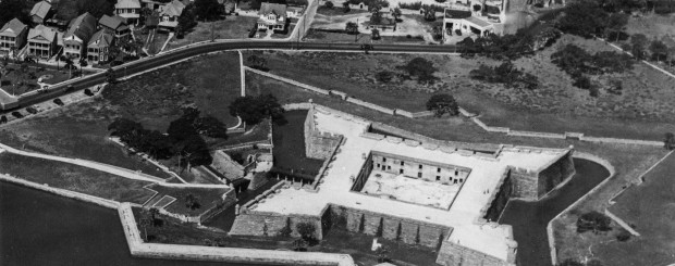 Arial view of the fort