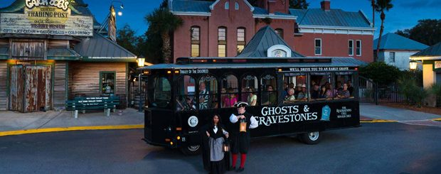 Old town trolley's Ghost & Gravestones tour