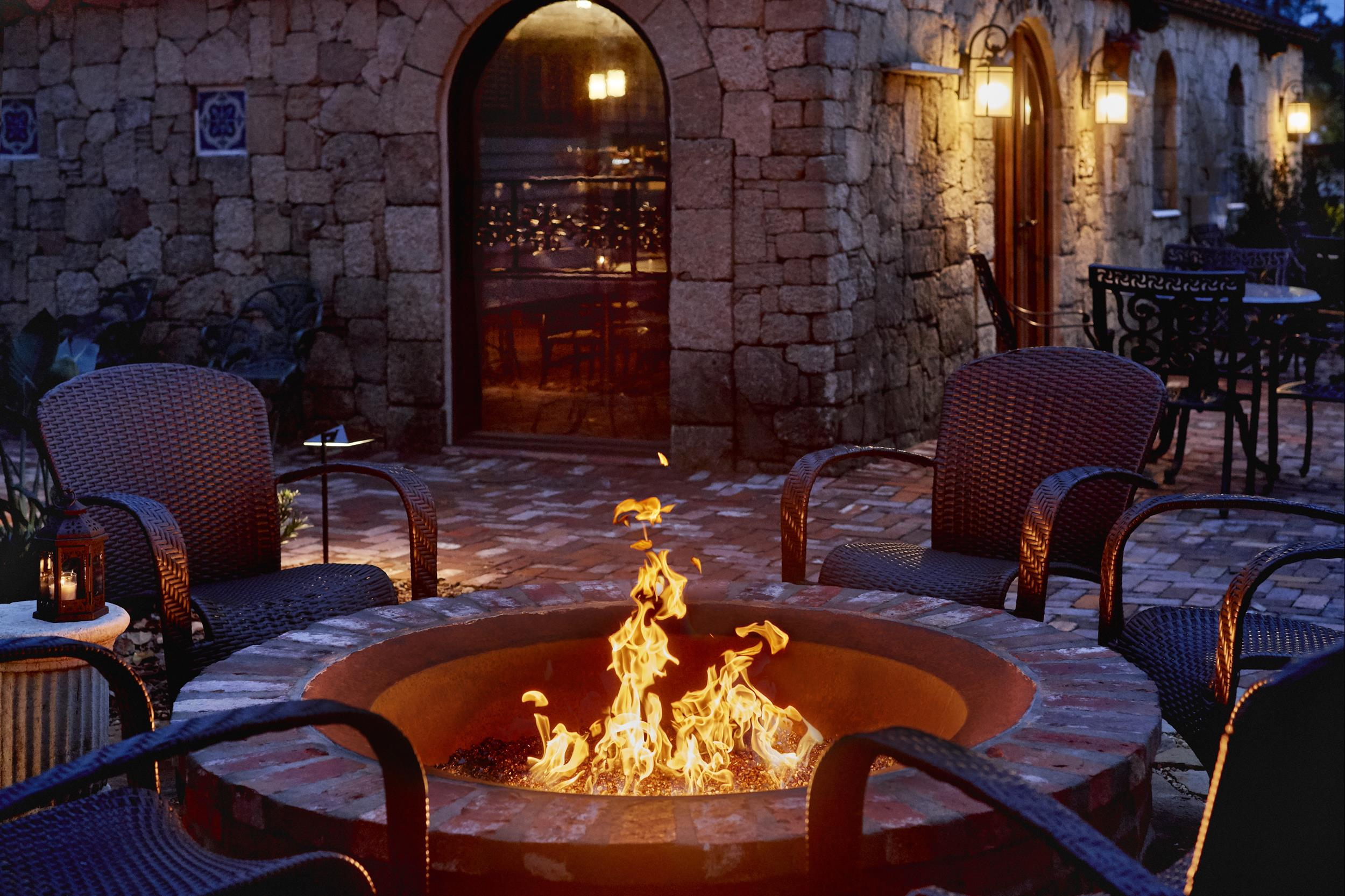 Fire-pit at The Collector Luxury Inn and Gardens